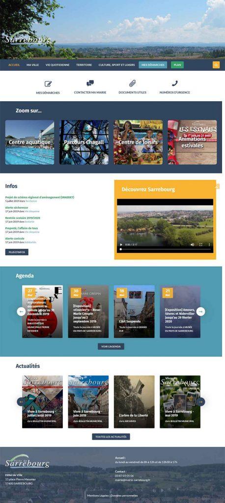 site internet sarrebourg page d'accueil