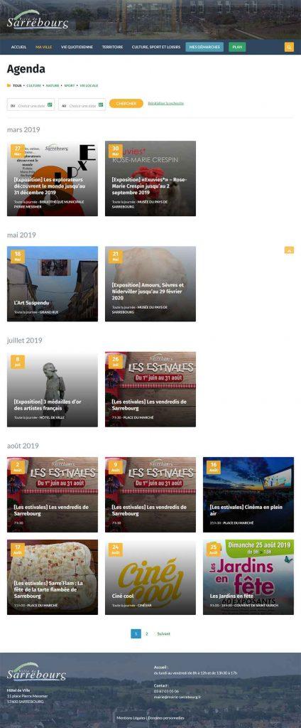 site internet sarrebourg agenda