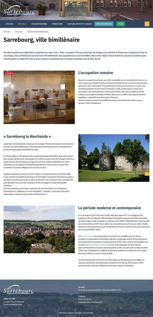 site internet sarrebourg page histoire