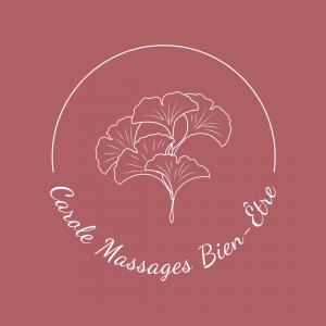 logo carole massages bien-être paris fond vieux rose